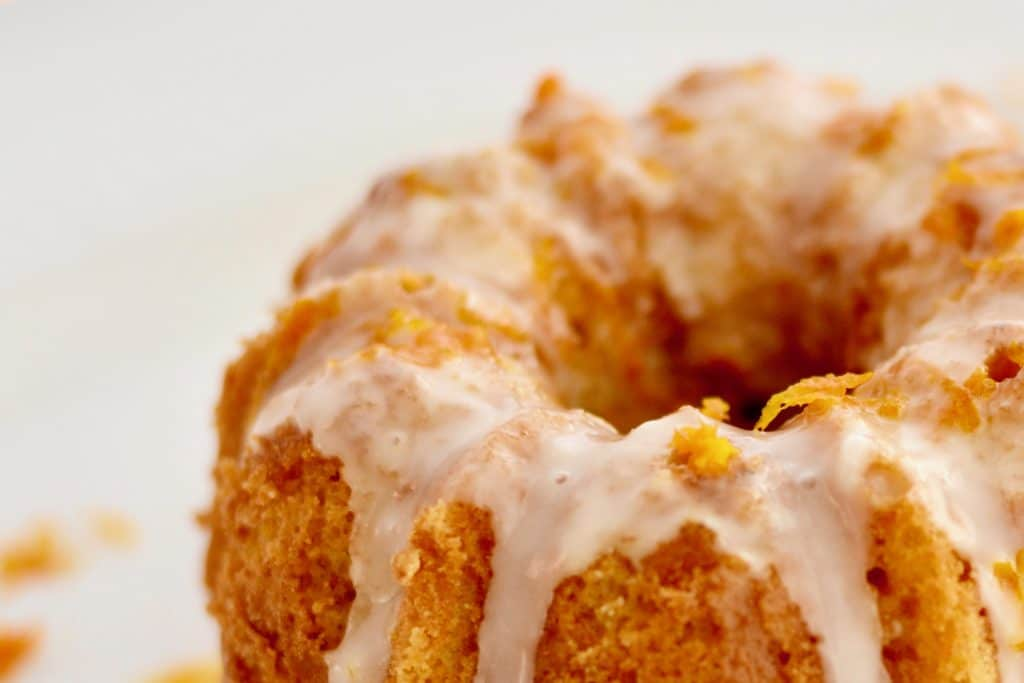 Orange Bundt Cake made with No Refined Sugar - Perfect for spring or Easter!