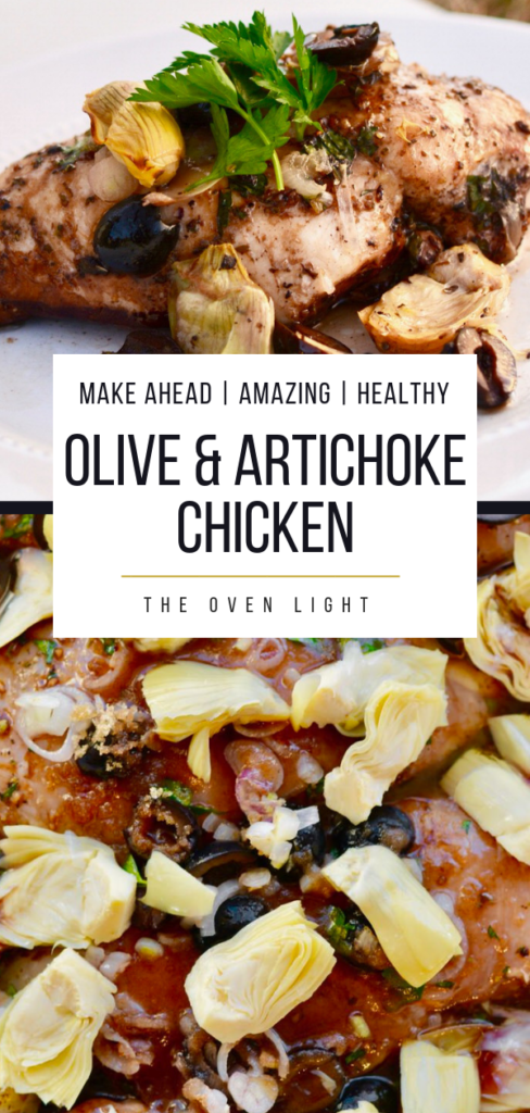Olive and Artichoke Chicken - Prep the night before. Easy enough for a weeknight meal, fancy enough for company!