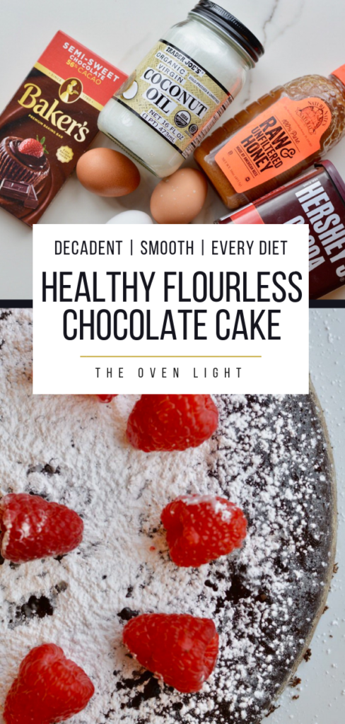 Flourless Chocolate Cake   Simple, natural ingredients, gluten free, refined sugar free and so soft, moist and decadent! #flourless #glutenfree #glutenfreedessert #chocolatecake #flourlesschocolatecake #healthydessert #dessertrecipes