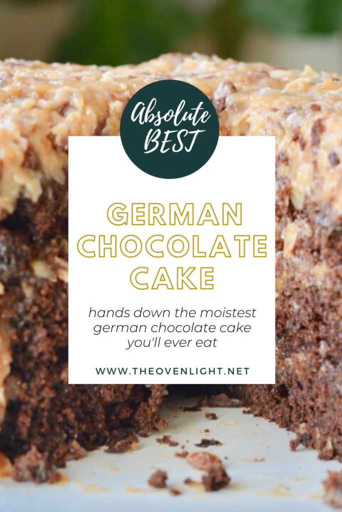 Moist German Chocolate Cake   The absolute BEST German Chocolate Cake recipe you'll ever eat. Perfected with a glaze and the perfect frosting.