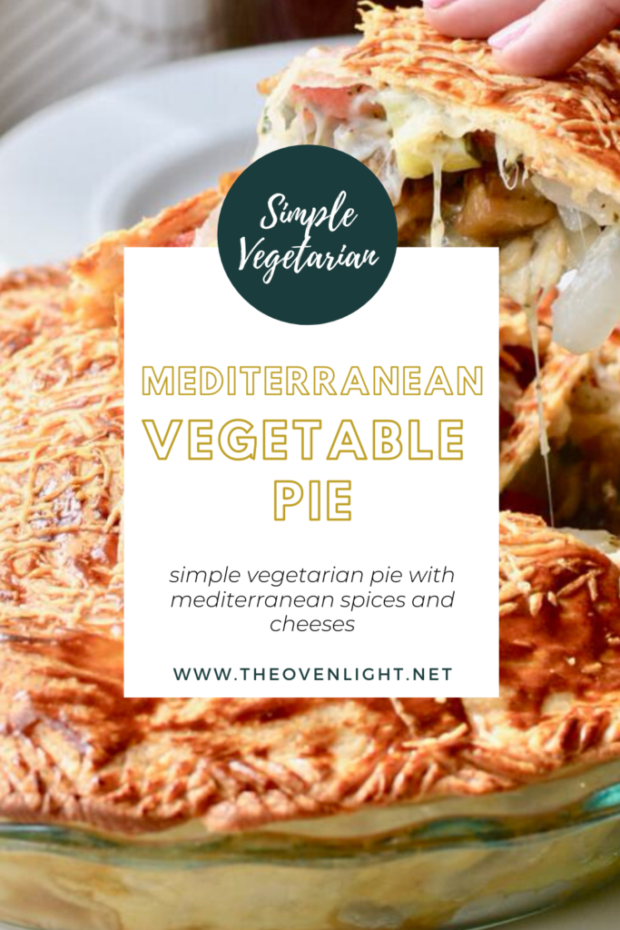 Mediterranean Vegetable Pie - perfect recipe for vegetarians - so full of flavor and make ahead friendly!