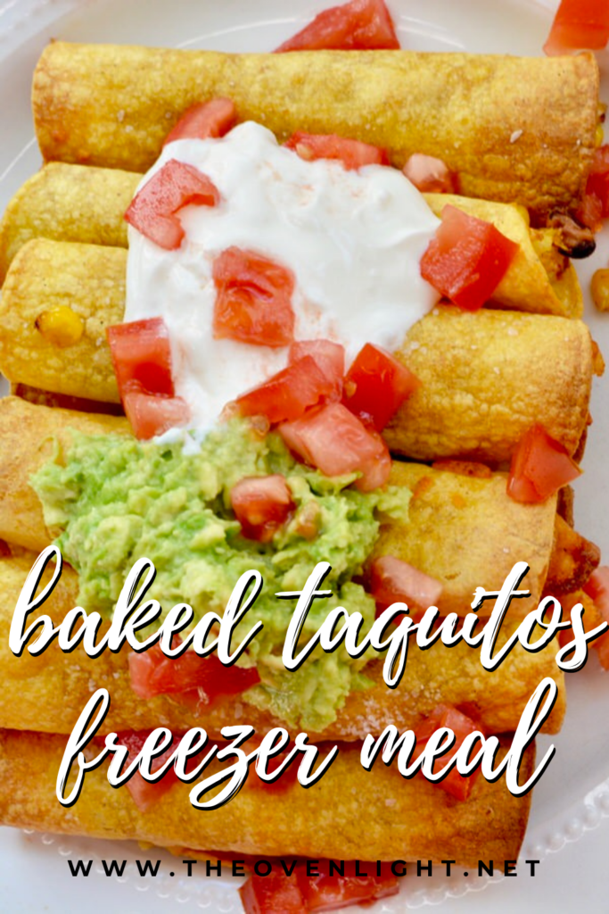 Baked Taquitos | Use leftovers for a filling and freeze for later. Amazing flavor and healthy! #taquitos #bakednotfried #leftovers #freezermeal