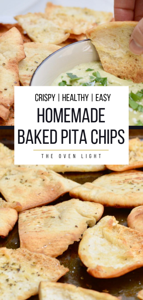 White Bean and Feta Dip with Homemade Baked Pita Chips #homemade #pitachips #mediterranean #bakedchips