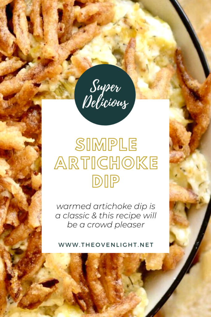 Hot artichoke dip appetizer. Perfect for every gathering! Easy and so creamy! #artichoke #dip #appetizer