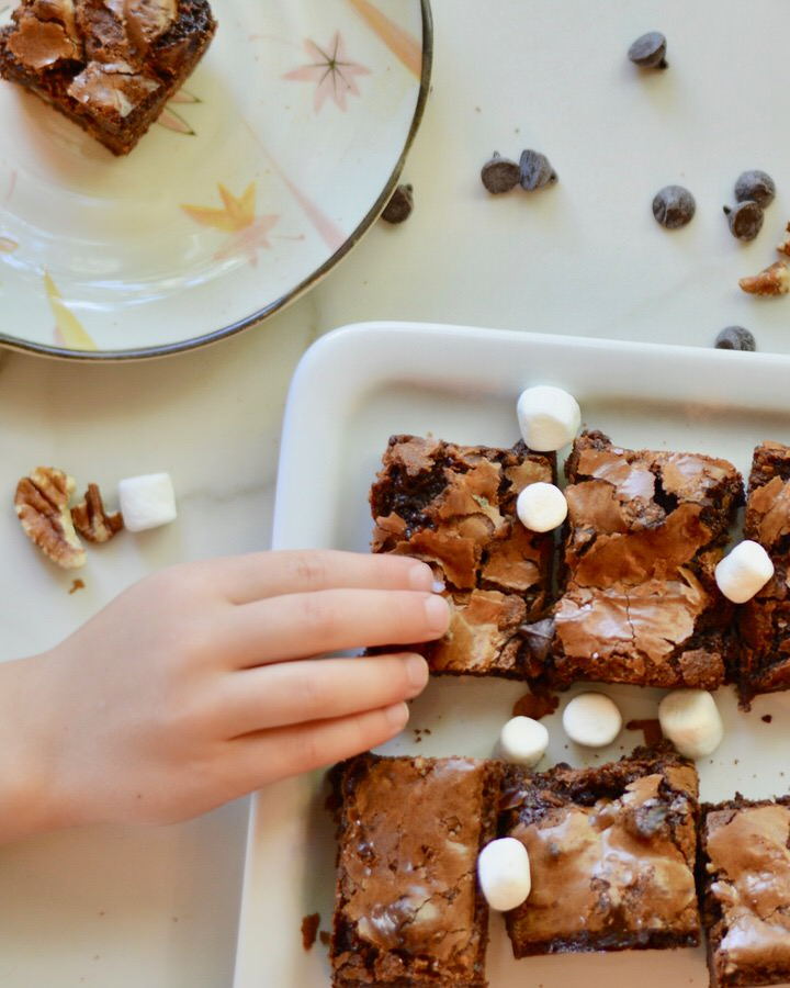 Rocky Road Brownies - Oh so chewy and not overly sweet. The perfect combination of chewy, soft, with a nutty crunch. YUM!