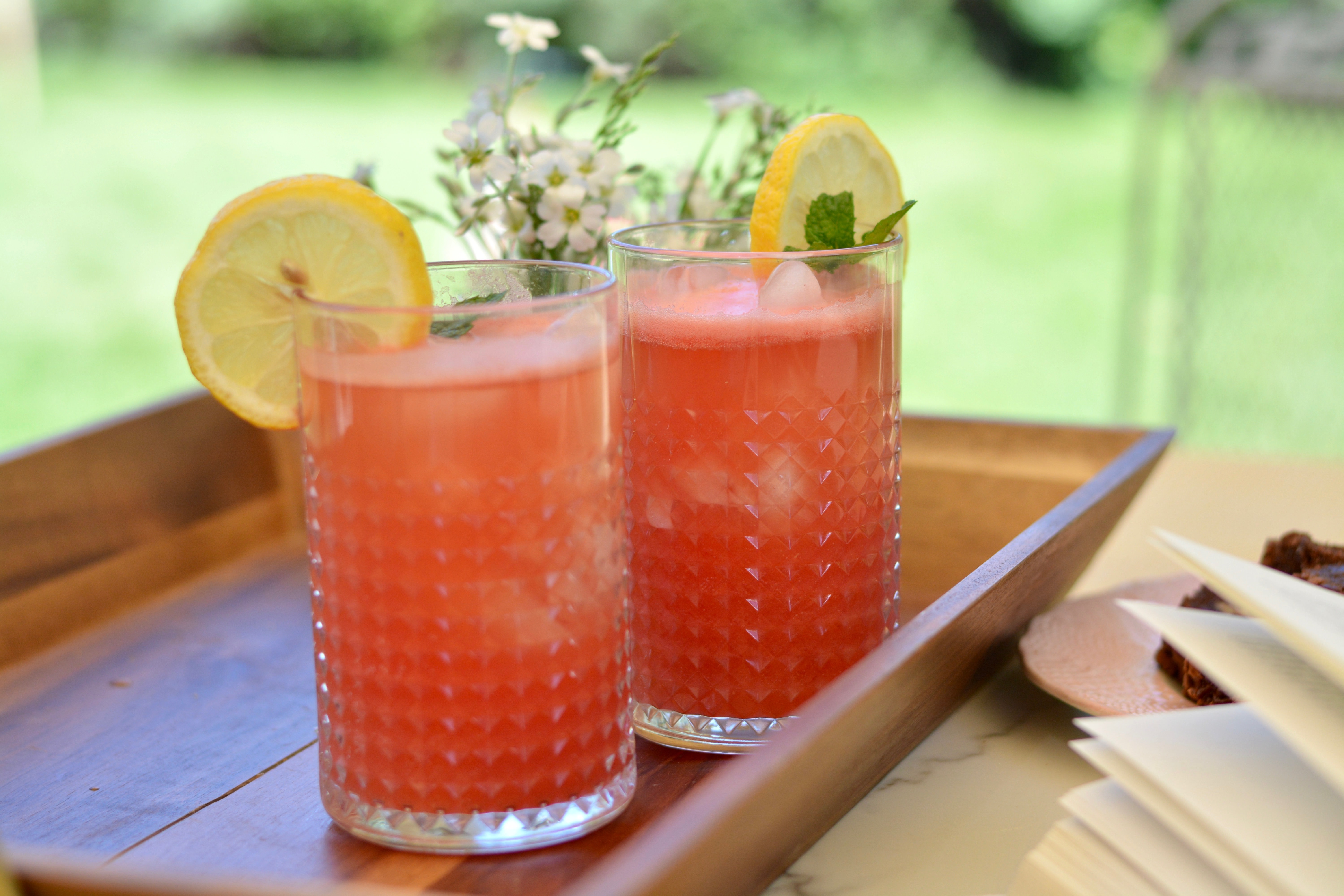 Sparkling watermelon refresher drink to cool you to the core this summer. Deliciously light and perfect for your outdoor summer days.