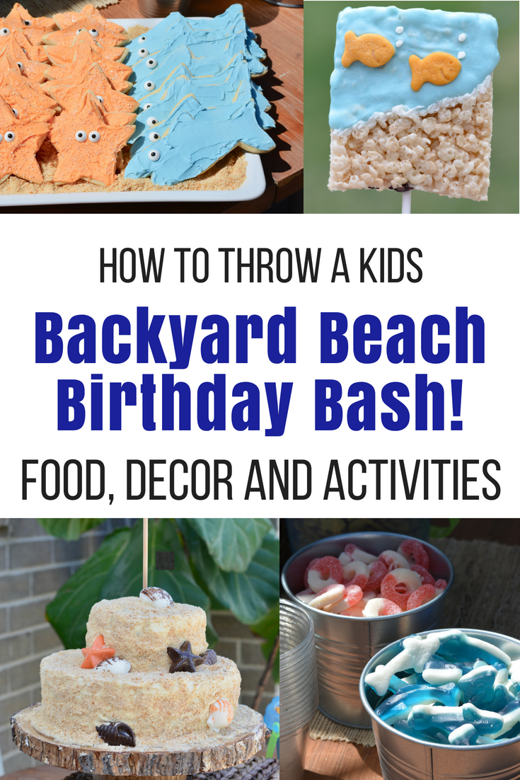 Boy Beach Theme Birthday Party - With recipes and decorating ideas, including activities and simply delicious snacks for kids and adults!