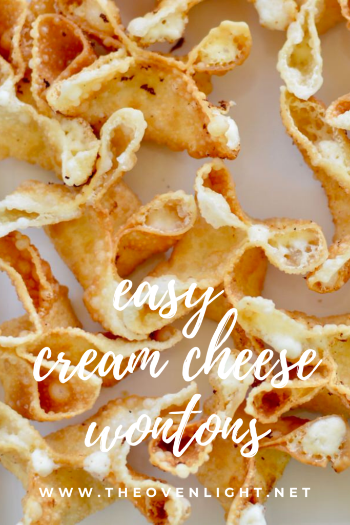 Cream cheese wontons. So easy! So much flavor and so quick to fry up! Great appetizer for any meal! #creamcheese #wontons #fried #easy #appetizer