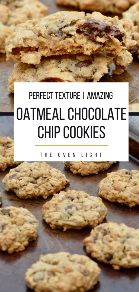Oatmeal Chocolate Chip Cookies Recipe   Perfect texture, amazing flavor. THE BEST OATMEAL COOKIE EVER! #oatmeal #chocolatechips #cookie #cookierecipe #amazingcookies