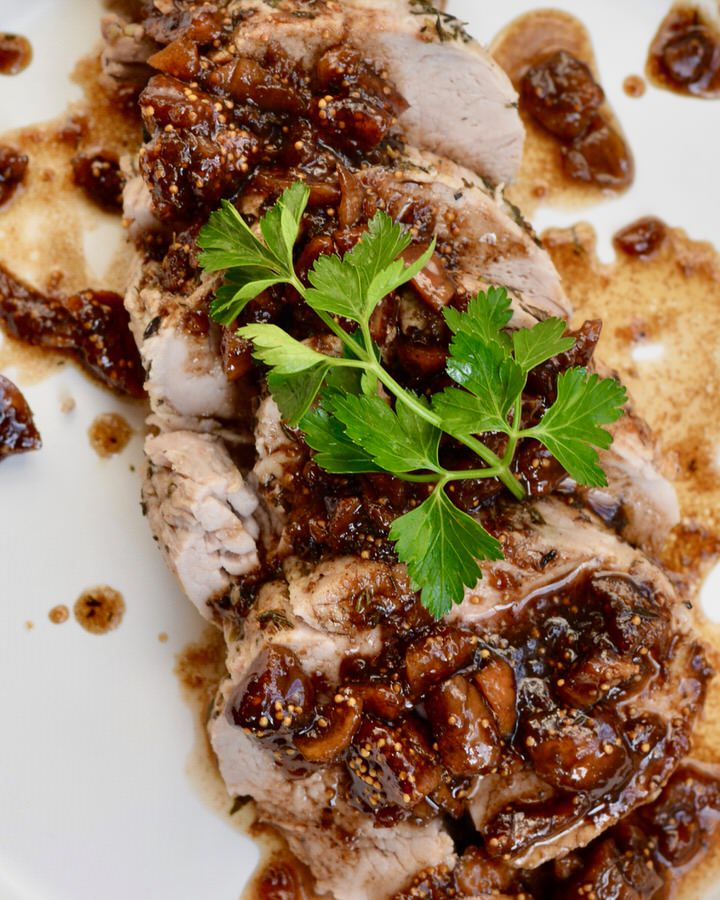 Pork Loin with Balsamic Fig Sauce