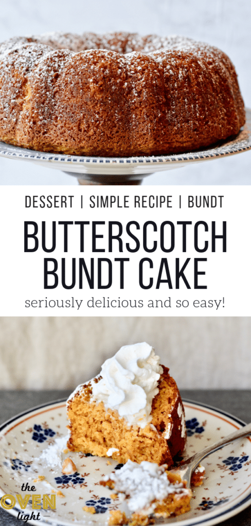 Butterscotch Bundt Cake - Amazing bundt cake for spring or fall. Perfect for Easter. Eat it for breakfast or dessert!