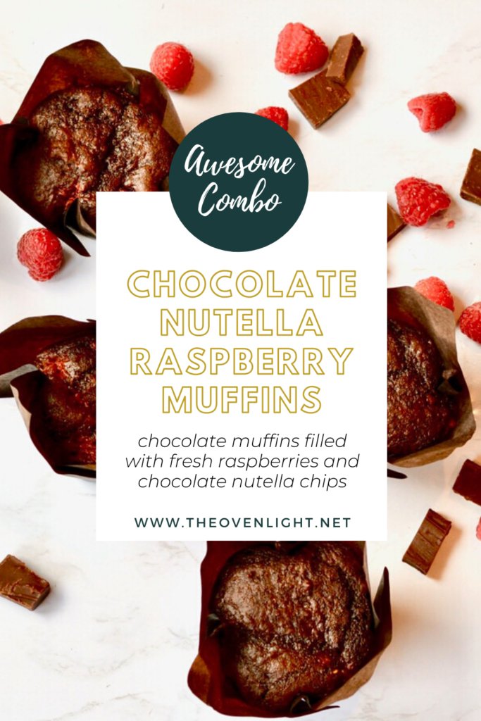 Chocolate Nutella Raspberry Muffins - So rich and delicious and perfect for a special occasion, everyday breakfast or brunch.