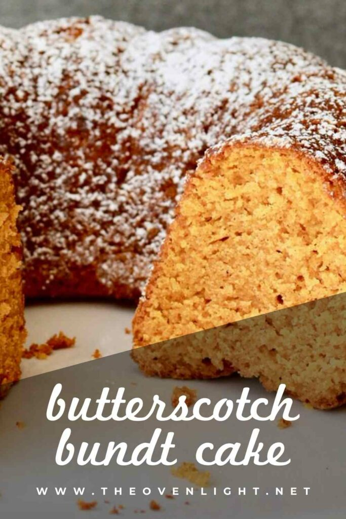 Butterscotch Bundt Cake - Amazing bundt cake for spring or fall. Perfect for Easter. Eat it for breakfast or dessert! #butterscotch #pumpkin #bundtcake