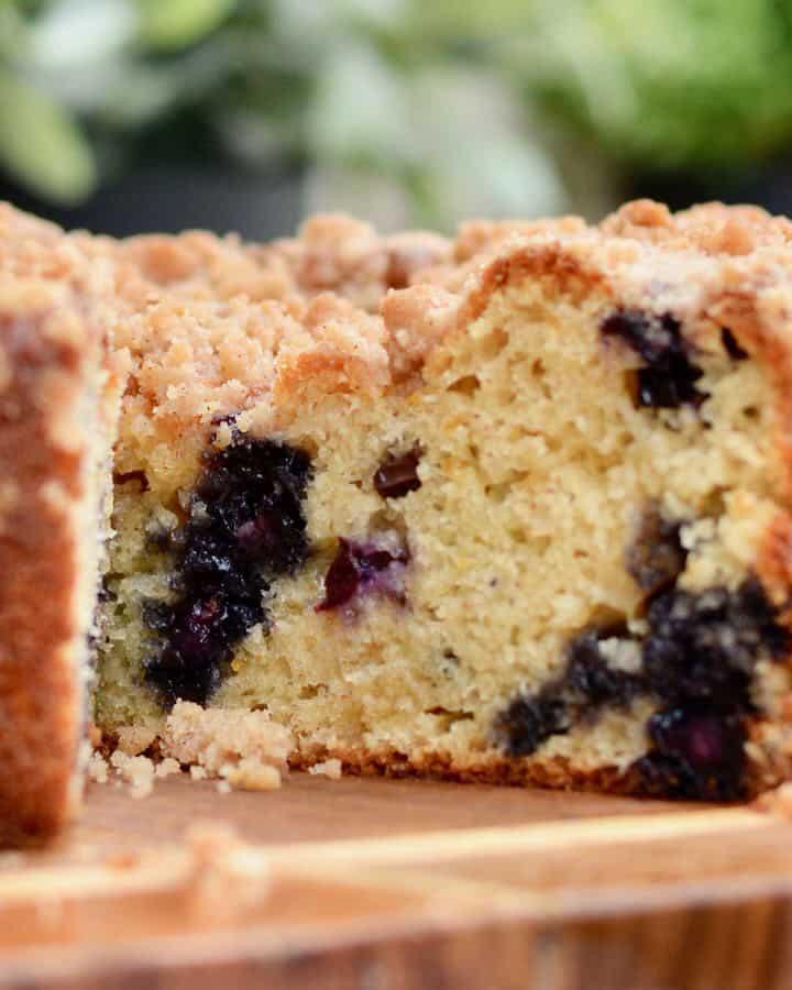 Orange blueberry coffee cake