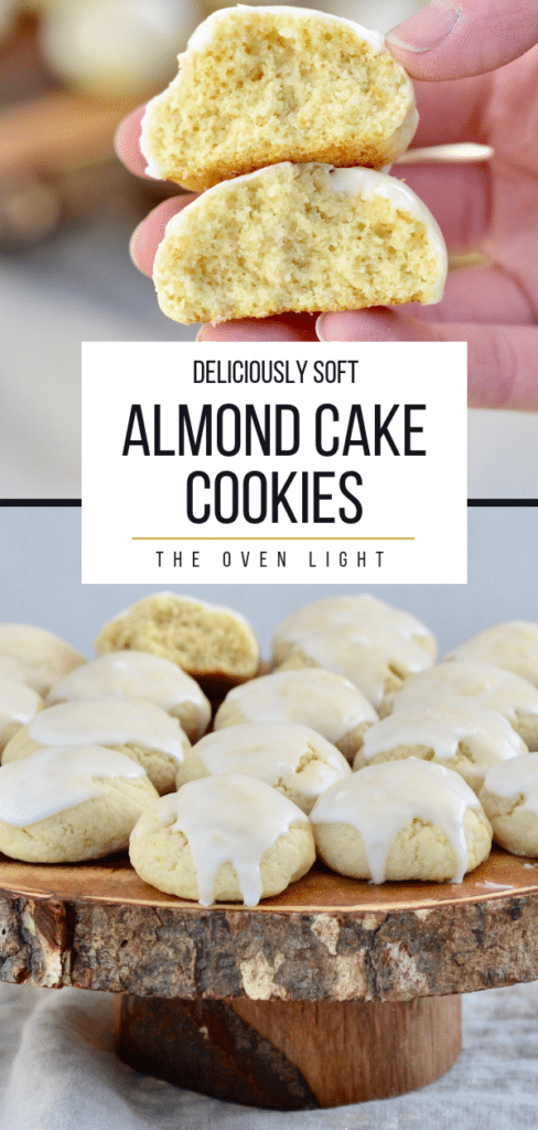 Deliciously soft almond cake cookies. Easy recipe with seriously amazing texture and flavor.