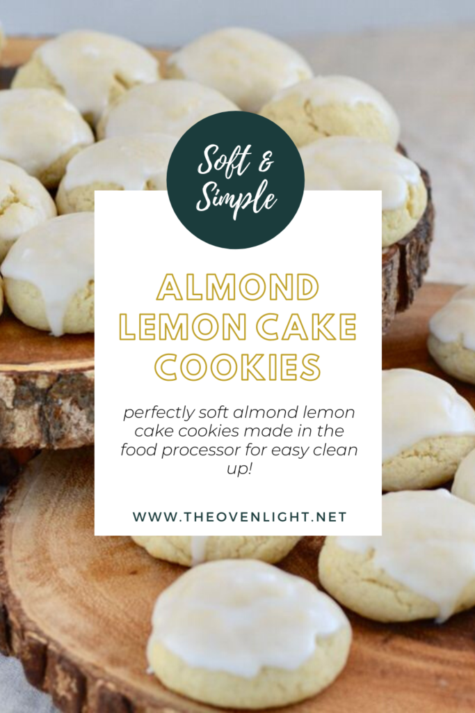 Almond Lemon Cake Cookies - Soft cookies with a hint of almond and lemon. Perfect for spring and summer. Comes together quick and easy! #almondextract #lemon #cookies #summer #spring #recipe