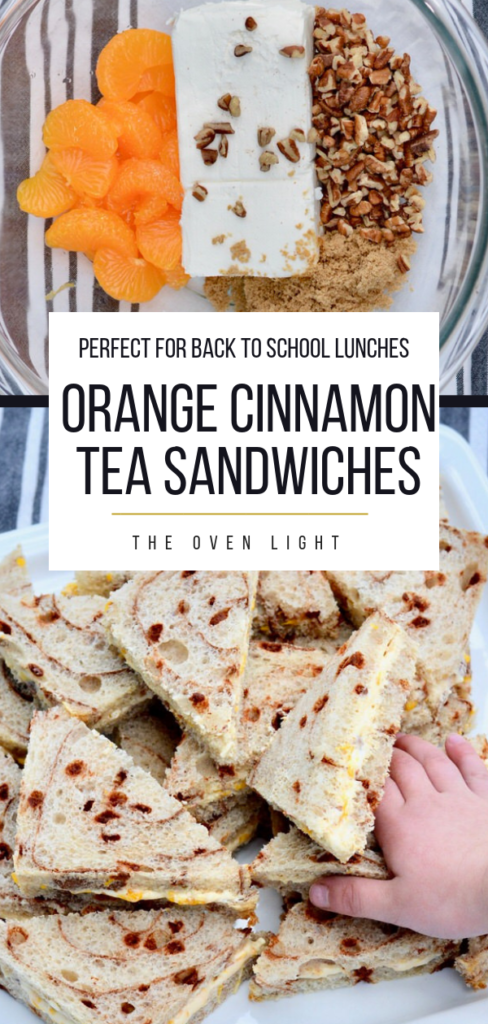 Orange Cinnamon Tea Sandwiches make the perfect back to school lunch!