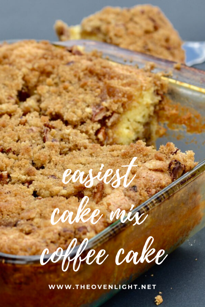 Yellow Cake Mix Coffee Cake - Super easy and oh so delicious! #cakemix #coffeecake #easycake