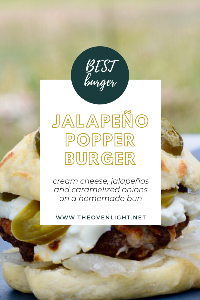 Jalapenño Popper Hamburger - cream cheese, mozzarella, onions and jalapeños. So easy and seriously so delicious! I've never had a burger so simple taste so amazing!