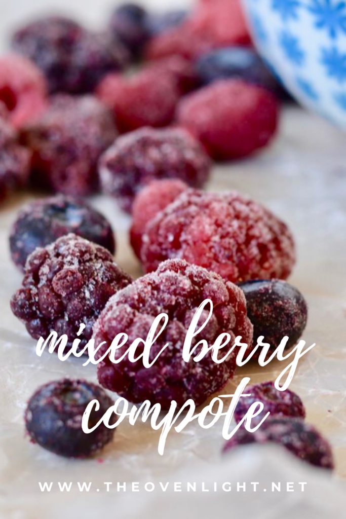 Mixed Berry Compote | Delicious, simple, healthy. #frozenberries #raspberries #blackberries #blueberries #compote