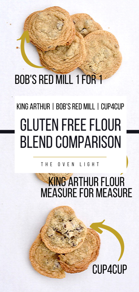 Gluten Free Flour Blend Comparison | Basic Chocolate Chip Cookie Recipe test! #glutenfree #chocolatechip #cup4cup #kingarthurflour #bobsredmill