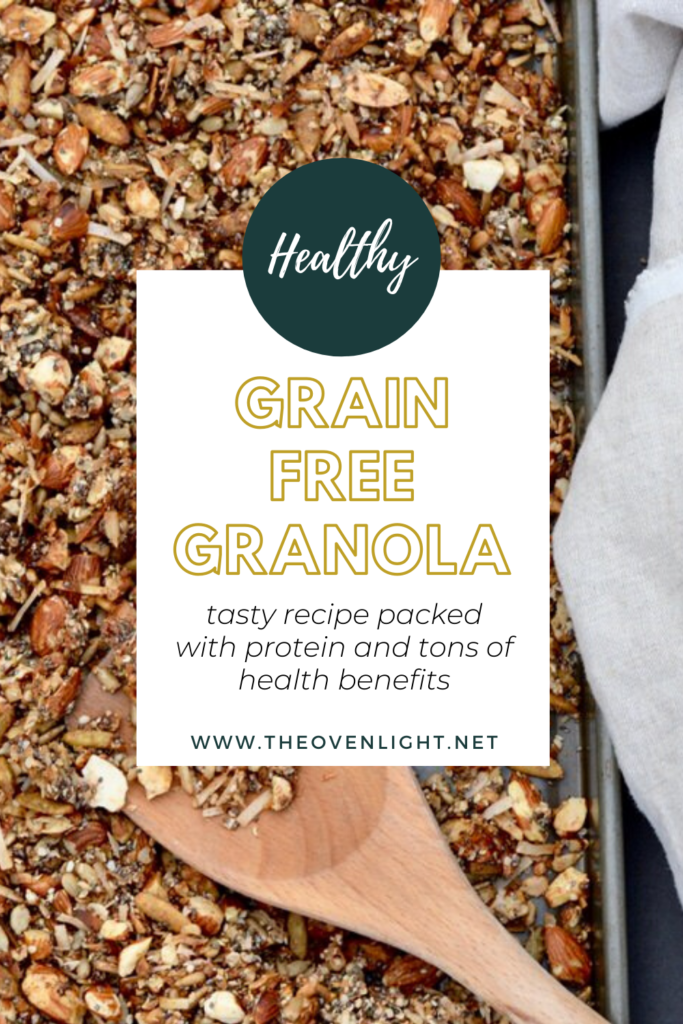 The BEST Grain Free Granola packed with protein. Almonds, chia, hemp, sunflower & pumpkin seeds, shredded coconut and cinnamon. All sweetened with a touch of honey.