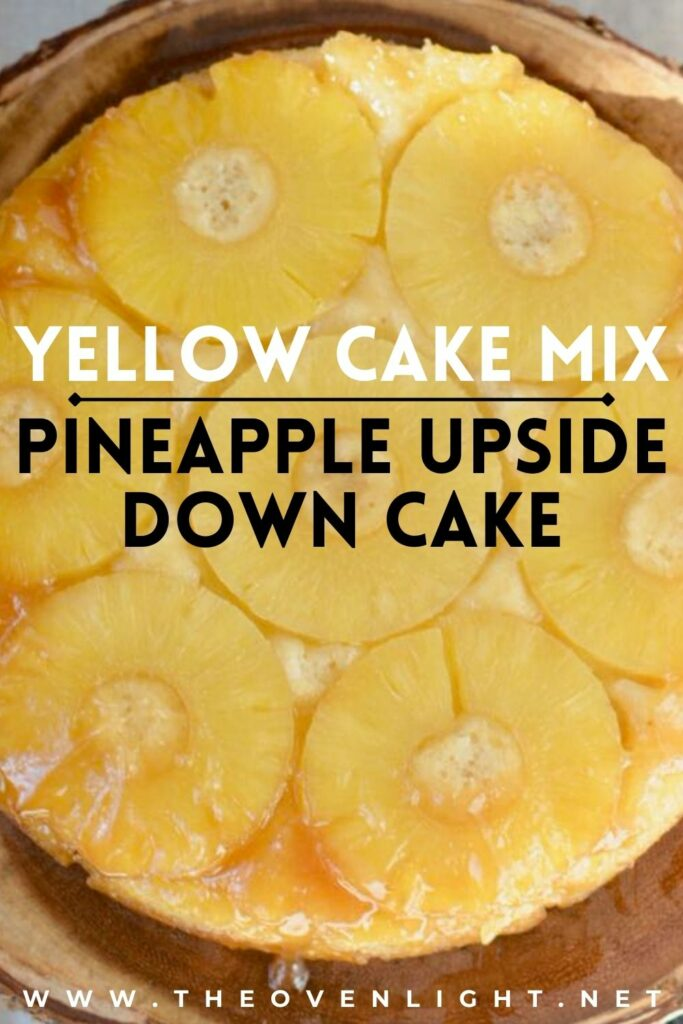 Pineapple Upside Down Cake Using a Boxed Yellow Cake Mix. Whip up this simple and flavorful summer recipe with just 7 ingredients and only 10 minutes hands on time. Total dessert perfection! #pineapple #upsidedowncake #yellowcakemix