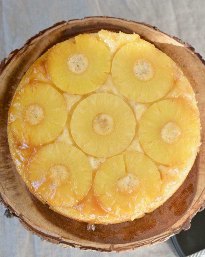 Gluten Free Vegan Pineapple Upside Down Cake