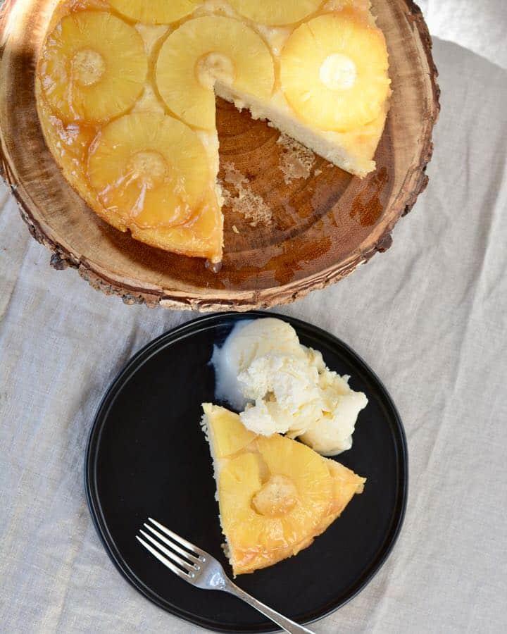 Gluten Free Vegan Pineapple Upside Down Cake