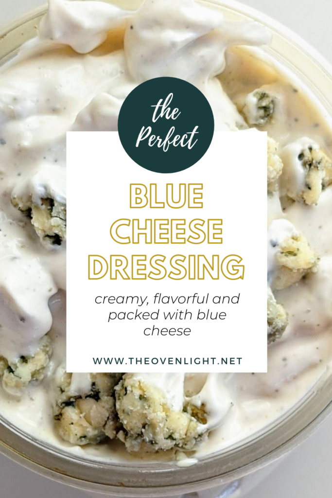 The BEST homemade Blue Cheese Dressing and Dip. A secret ingredient sets it apart from the rest and takes this blue cheese dressing to a whole other level! Perfect for dipping chips, fries, or on top of salad.