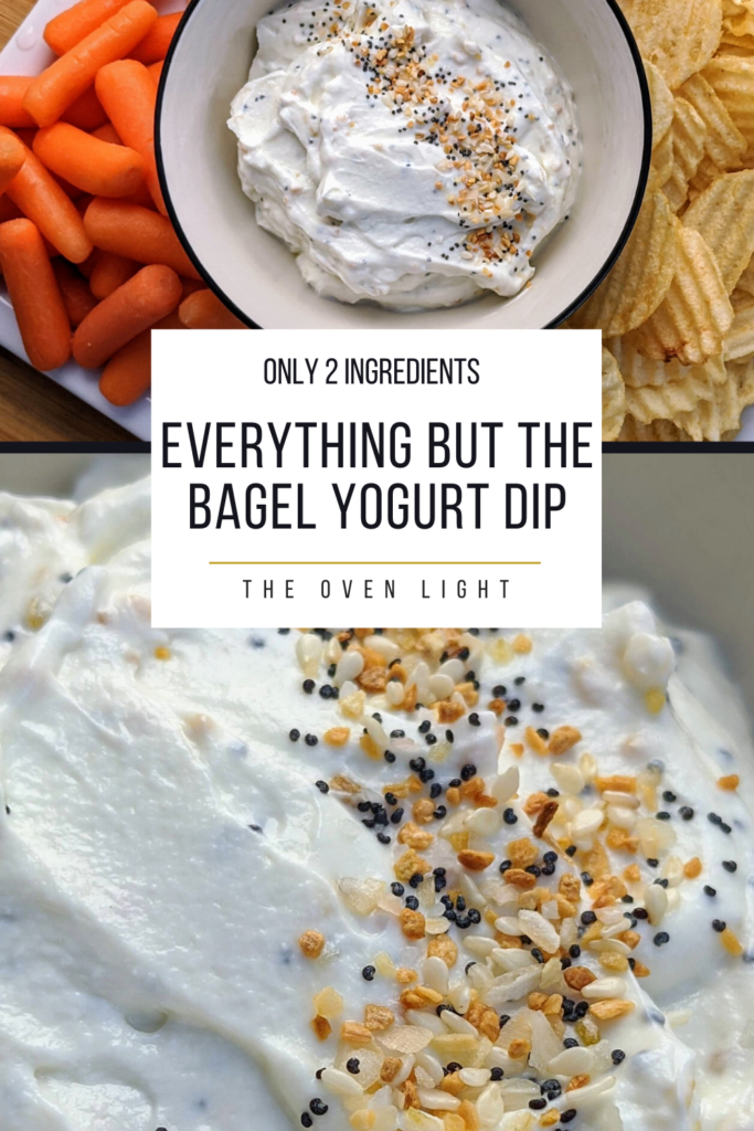 Everything but the Bagel Yogurt Dip - 2 ingredients and 2 minutes to this fantastic little dip. Goes great with chips, fries, veggies or on a sandwich! Plus, it's healthy!
