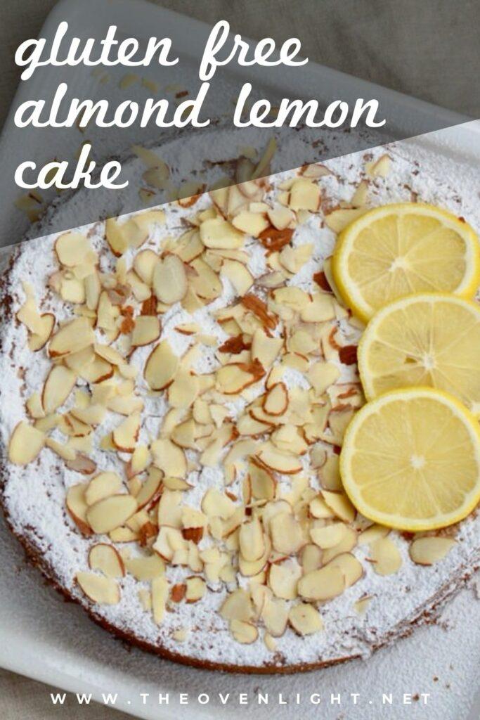Lemon Almond Cake | Gluten Free, delicious and only 5 ingredients. #glutenfree #almondflour #lemoncake