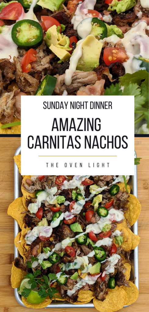 Amazing Carnitas Nachos! | Recipes for carnitas, jalapeño pinto beans and queso. Absolutely delicious and perfect for a Sunday night dinner!