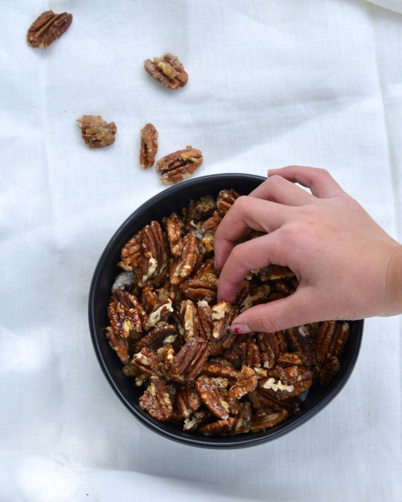 Sugar Spiced Pecans | Perfect for snacking, topping salads and make great gifts!