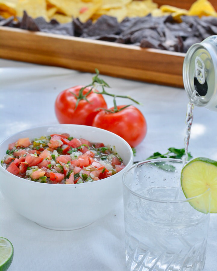 The BEST Pico de Gallo recipe made with all the classic ingredients with the most amazing secret ingredient—pickled serrano peppers.