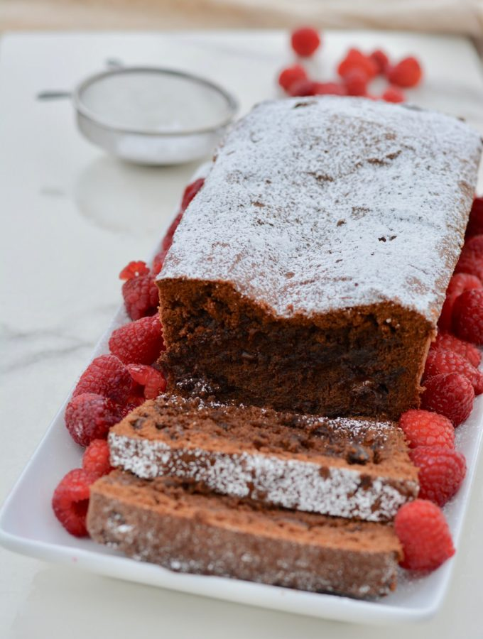 Chocolate Pound Cake | Gluten Free, Dairy Free recipe - full of amazing fudgy dark chocolate.
