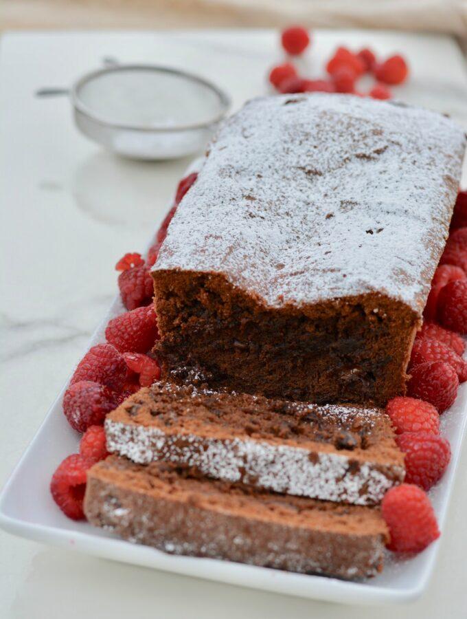 Chocolate Pound Cake | Gluten Free, Dairy Free recipe - full of amazing fudgy dark chocolate.