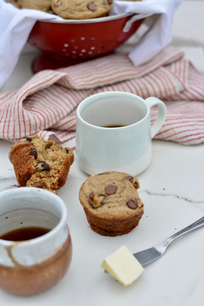 Espresso Chocolate Chip Muffins - perfect for a morning treat, breakfast or brunch