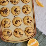 Orange Chocolate Chip Muffins | Gluten free & perfectly tender texture. Lots of orange flavor and plenty of mini chocolate chips make for a perfect breakfast treat!