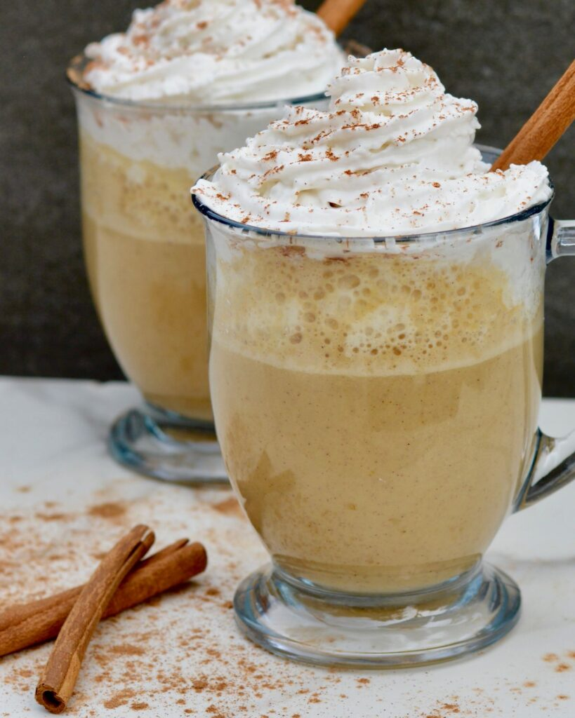 Pumpkin Spice Steamer Crème | Starbucks copycat. It's the Pumpkin Spice Latte without the coffee. A perfect winter day hot drink. Fresh ingredients, full of fall flavor.
