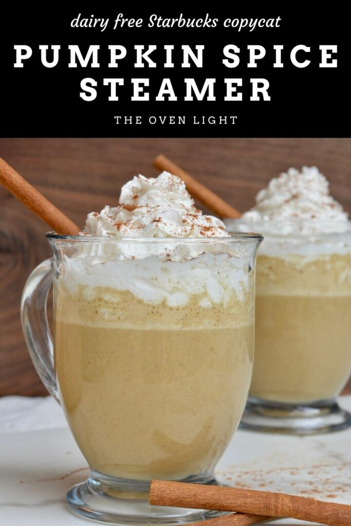 Pumpkin Spice Steamer Crème | Starbucks copycat. It's the Pumpkin Spice Latte without the coffee. A perfect winter day hot drink. Fresh ingredients, full of fall flavor. #pumpkinspice #fallflavors #starbuckscopycat
