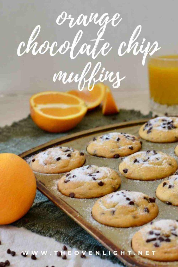 Orange Chocolate Chip Muffins   Gluten free & perfectly tender texture. Lots of orange flavor and plenty of mini chocolate chips make for a perfect breakfast treat! #muffinrecipe #glutenfree #chocolatechip
