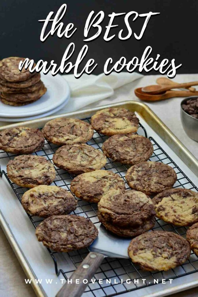 Marble Cookies | Simple twist on a classic holiday cookie—delicious all year round! Soft and so chocolatey. #marblecookie #cookierecipe #amazingcookies #simplecookies