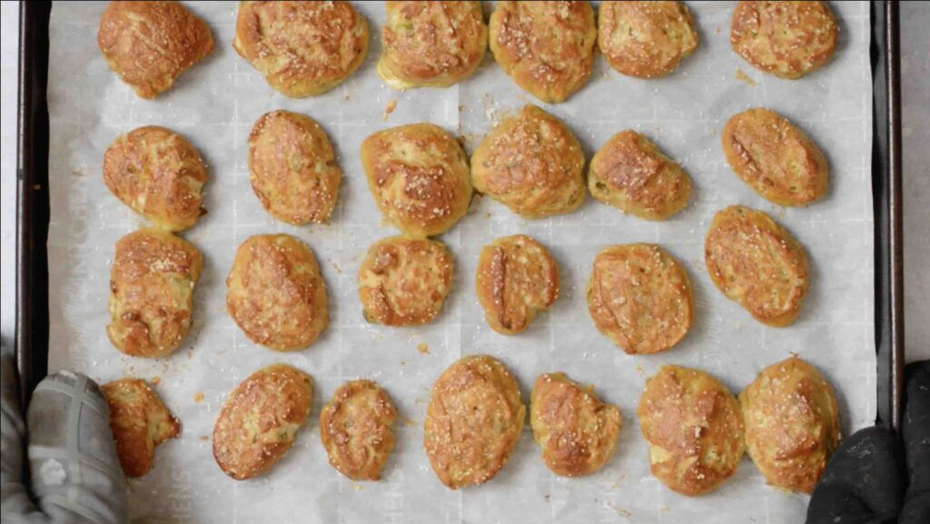 Step 12 - Pretzel Bites with a Kick! Adding fresh 505 Southwestern salsa right in the dough makes these pretzel bites really special. Dip in queso for the ultimate snack. #505southwestern #salsa #pretzels