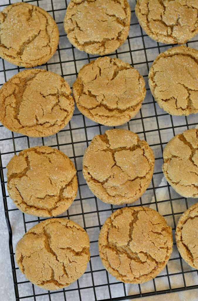 Soft Ginger Molasses Cookies   Perfect simple recipe for the holidays. Make ahead and freeze dough balls. Soft, chewy and full of the flavor of the holidays.
