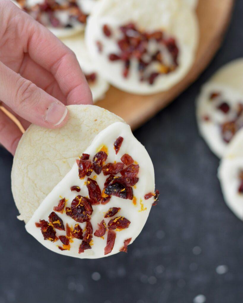 Cranberry Orange Butter Cookies