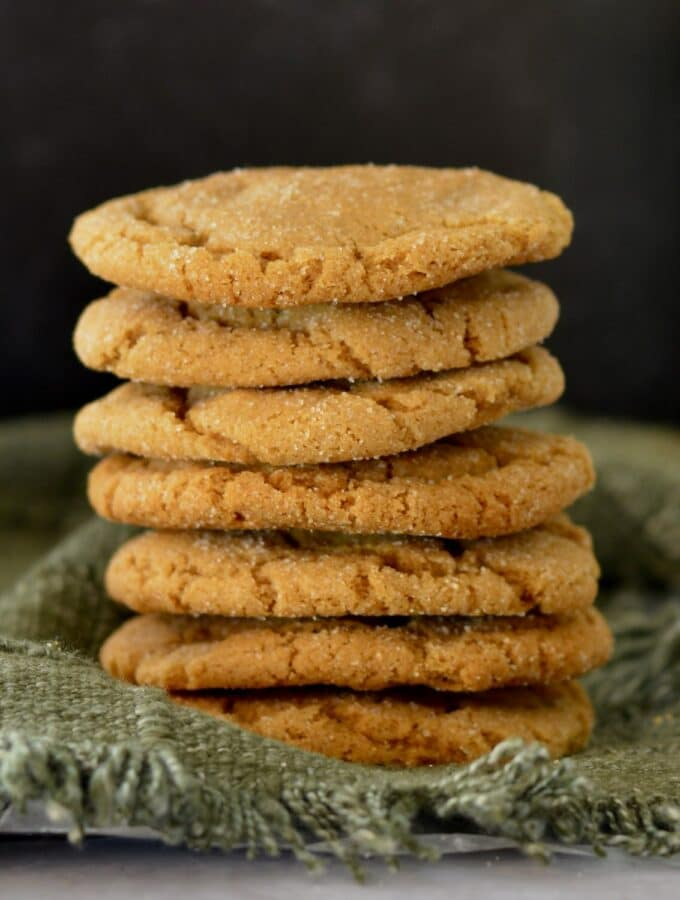 Soft Ginger Molasses Cookies | Perfect simple recipe for the holidays. Make ahead and freeze dough balls. Soft, chewy and full of the flavor of the holidays.