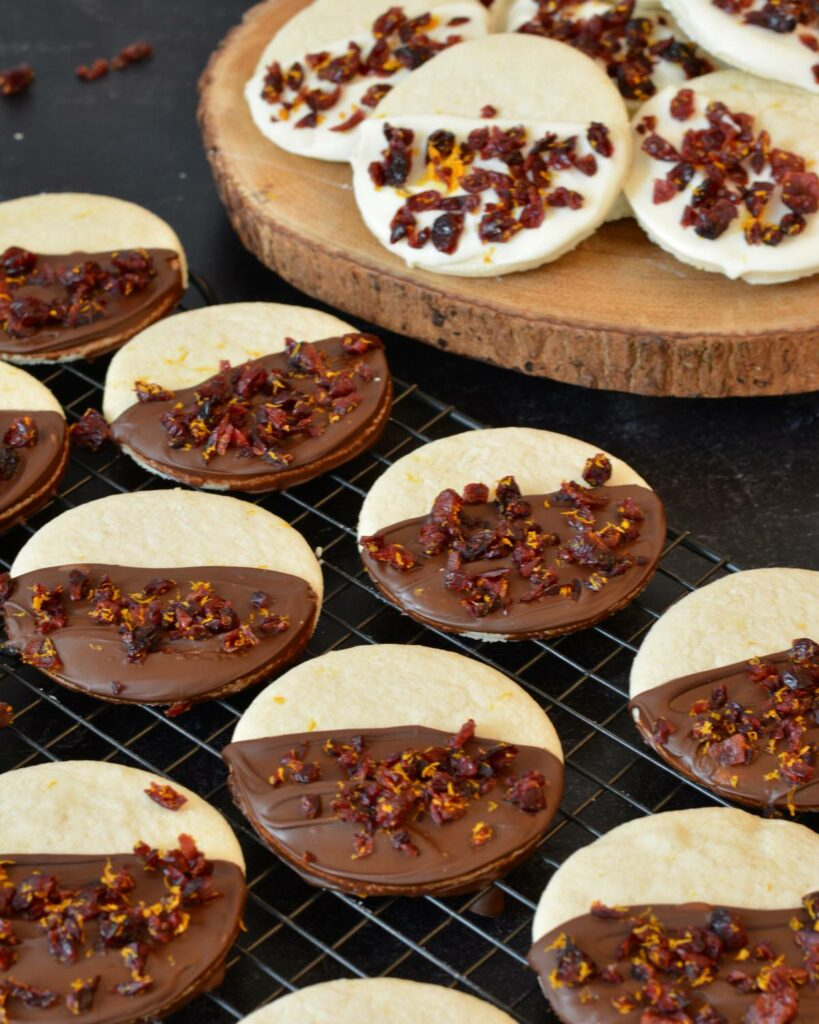 Orange Cranberry Cookies with white or dark chocolate   made gluten free. Delicious holiday cookie recipe! Super simple.