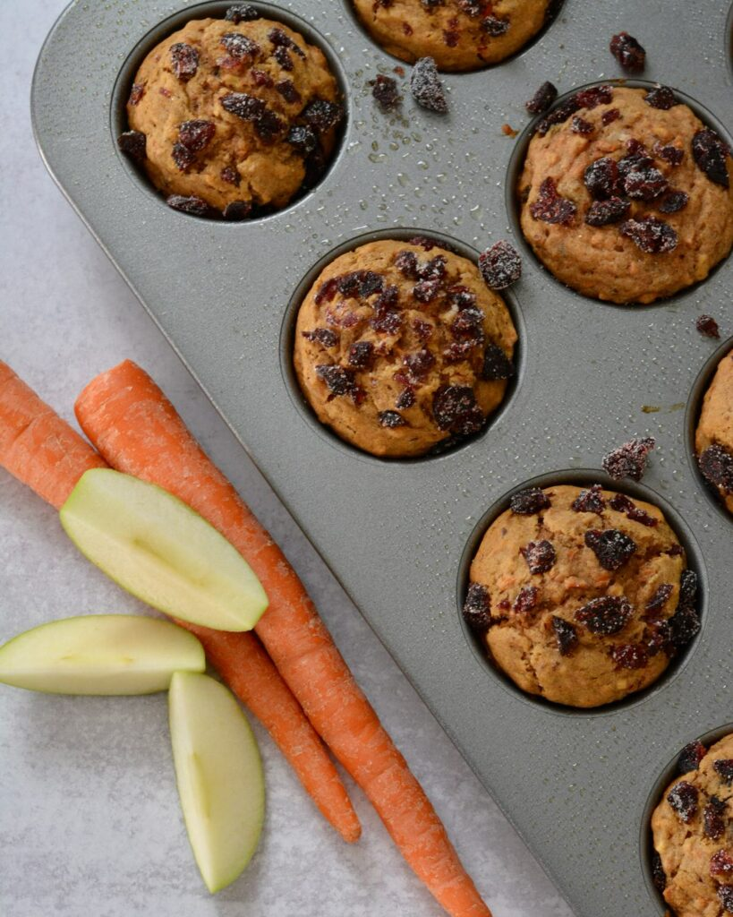 Super Healthy Morning Glory Muffins | carrots, apple, nuts, no refined sugar, gluten free and dairy free. Deliciously moist and a perfect grab and go breakfast.