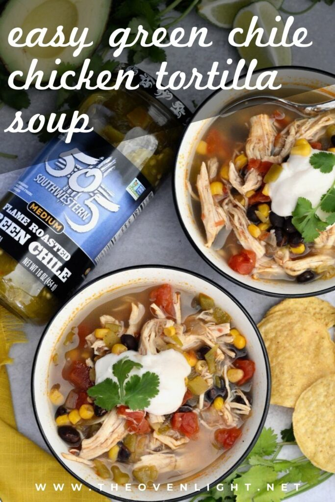 505 Southwestern® Hatch Green Chile makes this Tortilla Soup something you'll crave. Deliciously spiced, perfectly healthy and totally simple - the ideal winter recipe! #souprecipe #chickentortillasoup #505Southwestern #greenchile